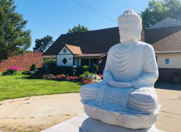 Update The marble Buddha statue has arrived at the temple already.